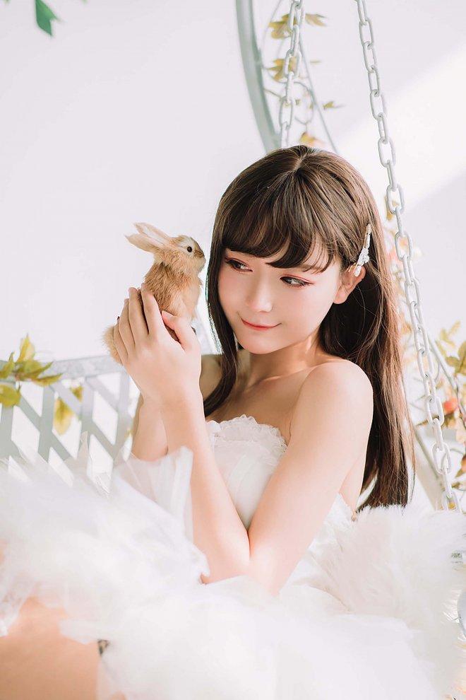 洁白的纱裙