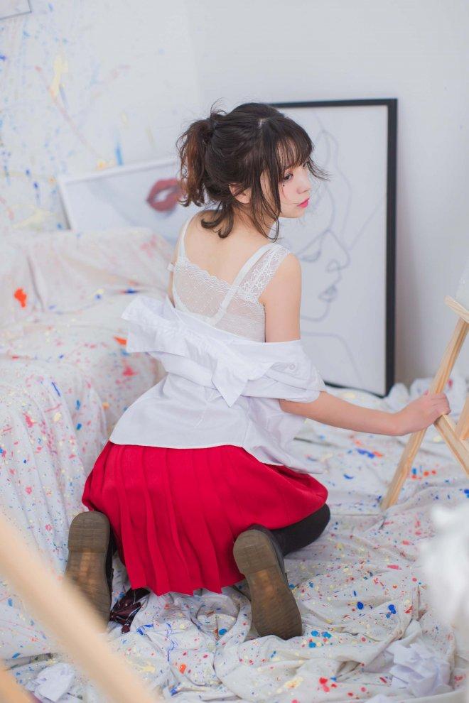 疯猫ss No6-画室JK+露背毛衣「38P 225M」